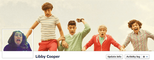 Boy Band Facebook Cover by Libby Cooper