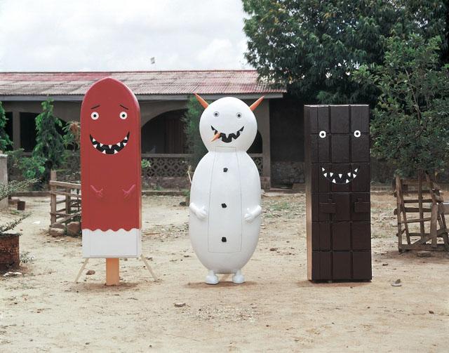 Cartoonish coffins by Olaf Breuning