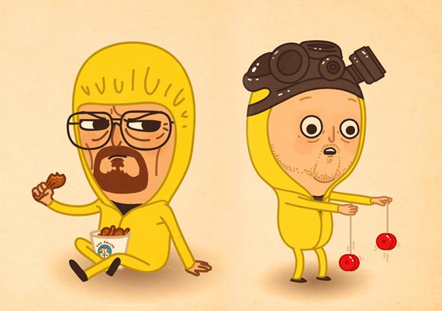 Original Walt & Jesse Breaking Bad Illustrations by Mike Mitchell