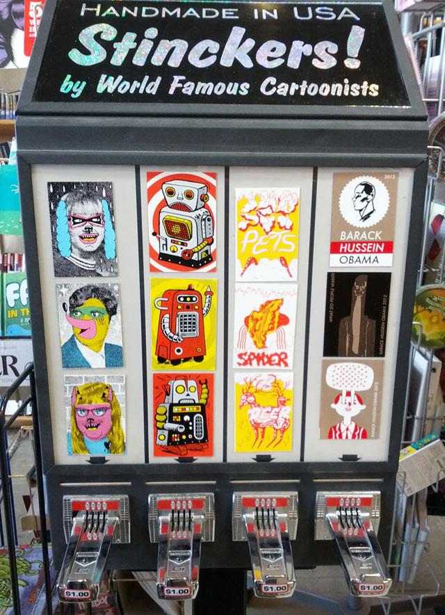 Big Brain Comics - Stinckers Coin-Operated Vending Machine