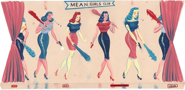 Mean Girls Club by Ryan Heshka