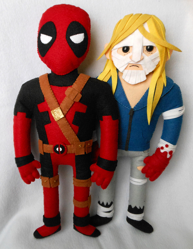 Deadpool and Luther Strode by Michelle Coffee