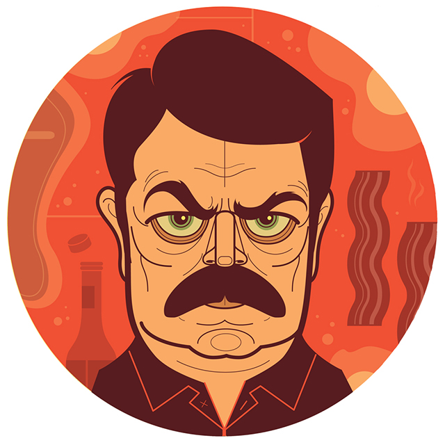 Ron Swanson from Parks and Recreation