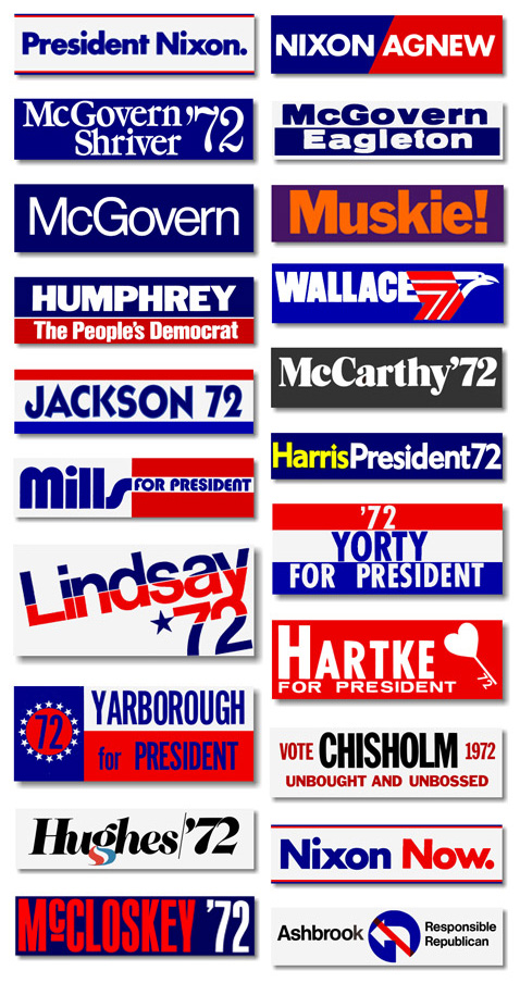 US Presidential Election Logos 1960-2008