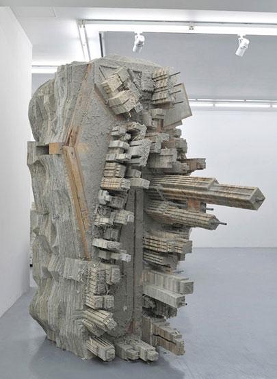 Cityscape sculptures by Liu Wei