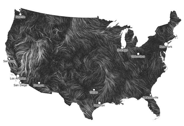 Wind Map by Fernanda Viegas and Martin Wattenberg