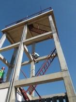 Der Wasserturm von unten