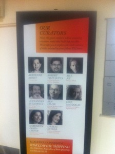 The eight guest curators at the TED Bookstore