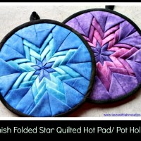 DIY-Amish Folded Star Quilted Hot Pad/ Pot Holder Video Tutorial