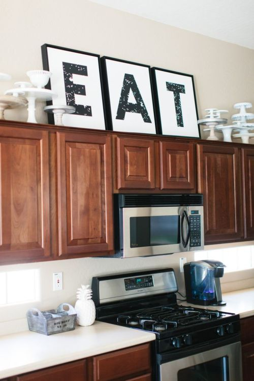 Medium Of Kitchen Decor Above Cabinets