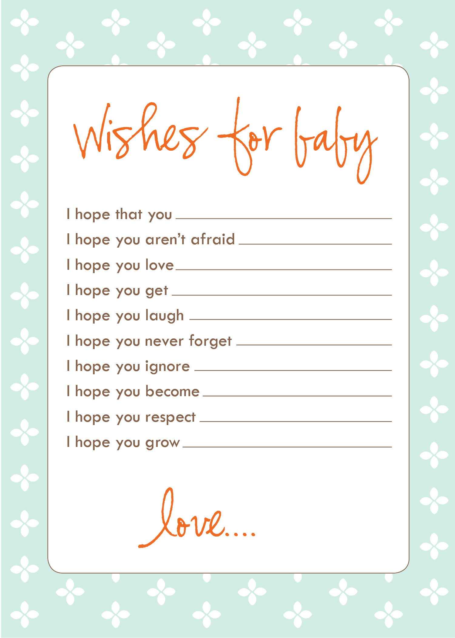 Fullsize Of Baby Shower Wishes