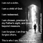 {Lessons Learned} I Am Not a Victim