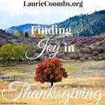 Finding Joy in Thanksgiving
