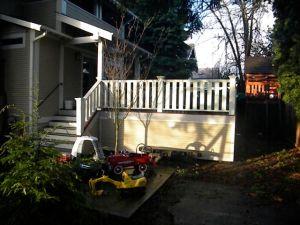 Hollen deck, from Driveway