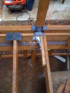 Hollen deck framing & hardware