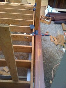 Hollen deck, framing detail picture rail