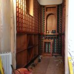 Wine room, installing racking