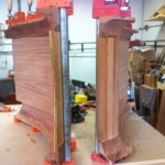 Inside corners gluing to the curved ceiling pieces