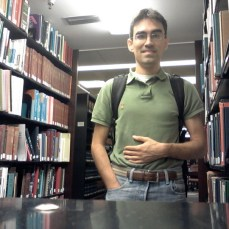 Ben Ochoa at the UH Law Library.