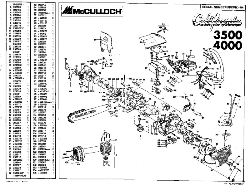 Large Of Mcculloch Chainsaw Parts