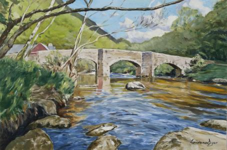 Fingle Bridge by Lawrence Dyer