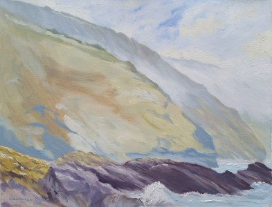 Lawrence-Dyer-co-uk-DownderryCliffsToEast-oils-18x14inches-LDDCE08012018url