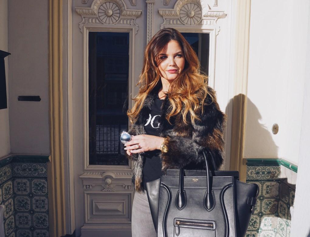 Faux Fur Jacket | Layla Rosita, http://laylarosita.com| #streetstyle #fashion #fauxfur