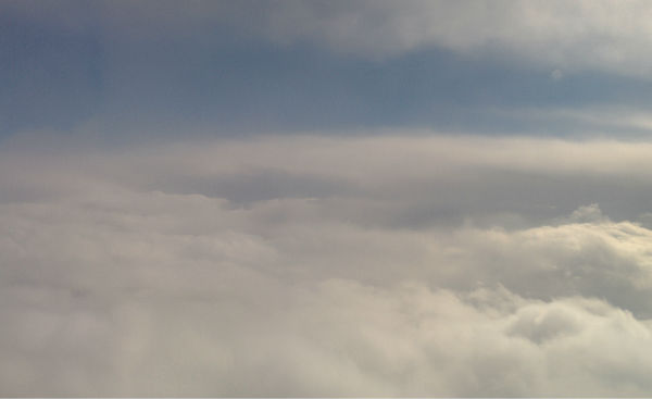 Up in the clouds!