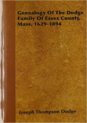 Genealogy of Dodge Family Book Cover