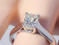 1.25CT Radiant Diamond Solitaire Engagement Ring