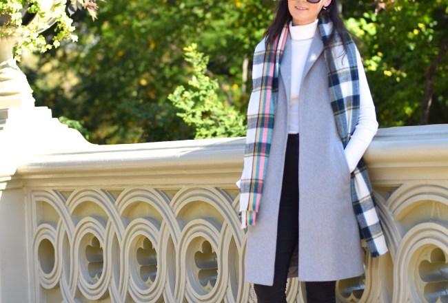 Grey Sleeveless Coat