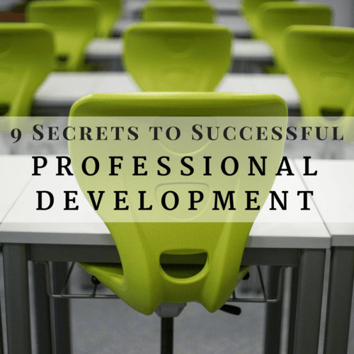 Nine secrets to successful professional development