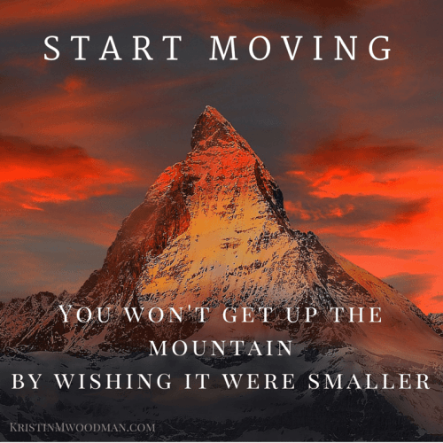 A mountain doesn't get any smaller by looking at it