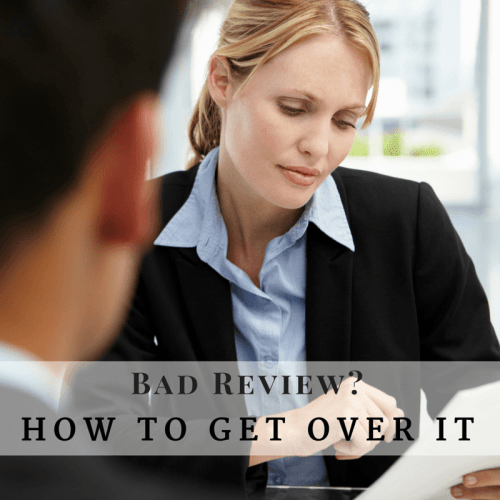 Bad review? How to get over it