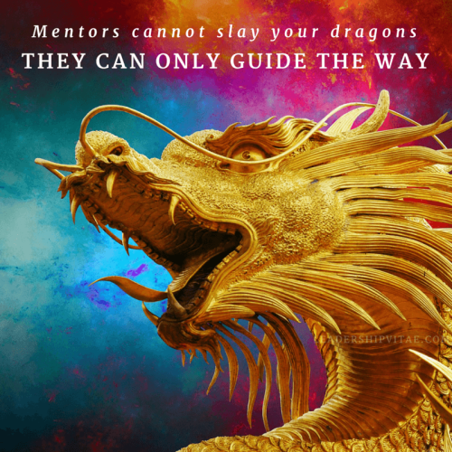 Mentors cannot slay your dragons. They can only guide the way