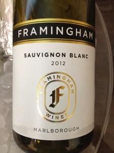 Framingham Sauvignon Blanc 2012