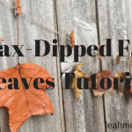 Wax-Dipped Leaf Garland (Tutorial)
