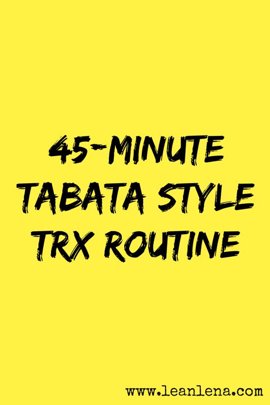 TRX tabata style class plan
