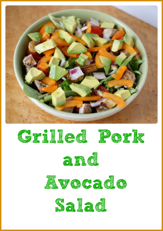 Grilled Pork Avocado Salad Recipe