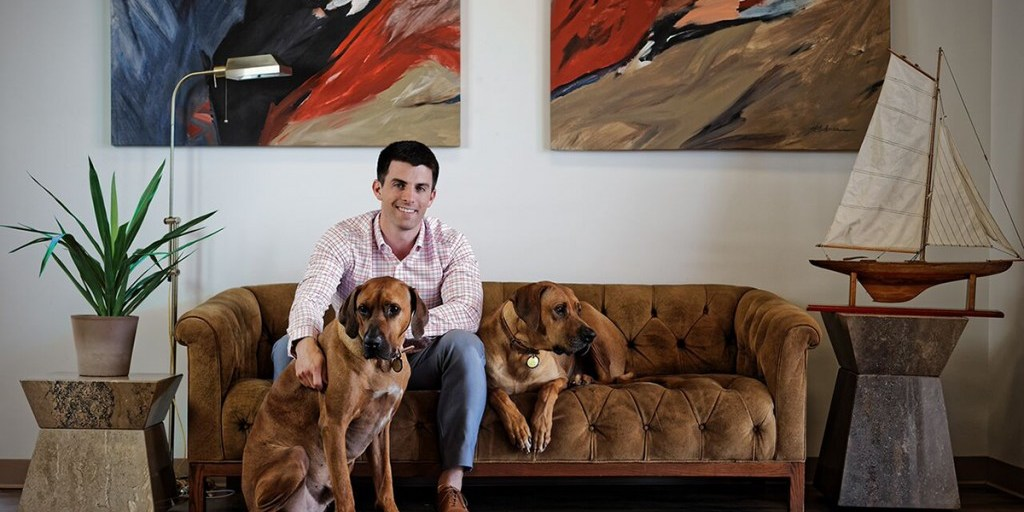 Kevin Lavelle and the Mizzen+Main hounds| Photo credit: The Academy