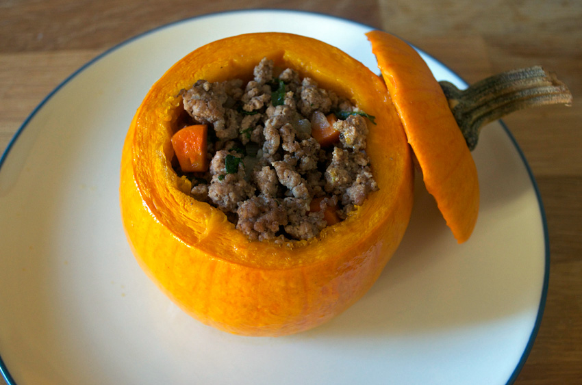 Beef and Vegetable Stuffed Pumpkins | LeanMeanKitchen, A Healthy ...