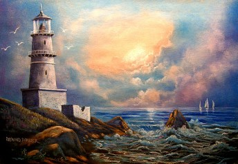 Seascape by Raymond Dombeck