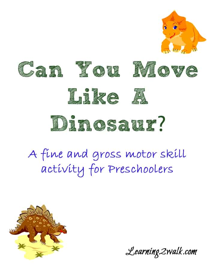 dinosaurs lesson plan for preschool dinosaur themed and gross motor skills activity 938