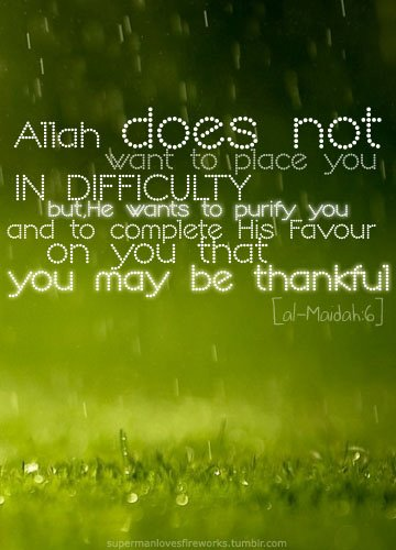 Allah does not want to place you in difficulty   Learning About Islam