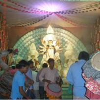 Mayur Vihar Kali Bari 2012-depicting life of Tagore