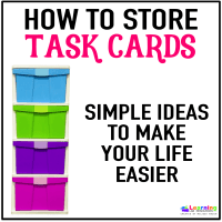 Task Card Storage Ideas