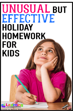 Do you struggle over whether or not you want to give homework over holiday breaks or even on the days leading up to a holiday? Here are some ideas for homework that kids will actually have fun doing!