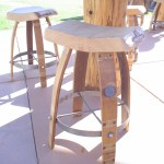 """First stools/wine barrel stools built by Leasure Concepts... Nice."""
