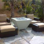 """This fire pit was incorporated into the very talented Dardens by Gabrial."""