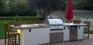 12' Outdoor Kitchen w/ Octagon Fire Pit.